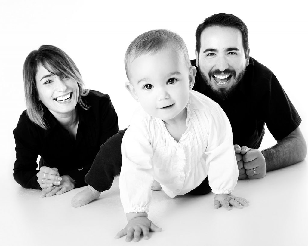 Familia dientes sanos